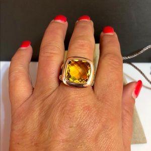 David Yurman 14mm Albion lemon citrine 925 Ring
